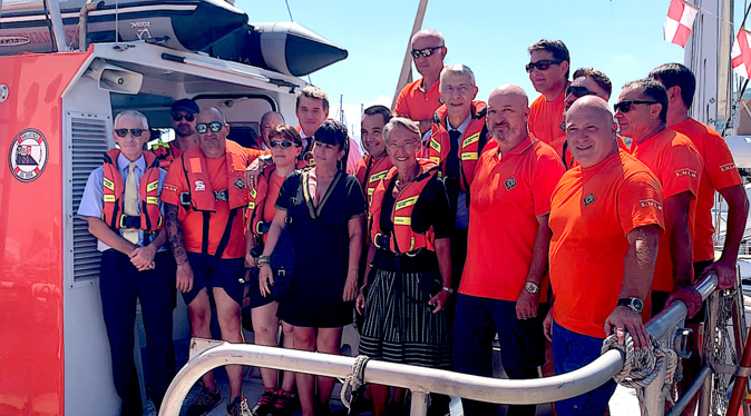 Elisabeth Borne a embarqué à bord du Jean-Ramelli pour rallier Poggio-Mezzana