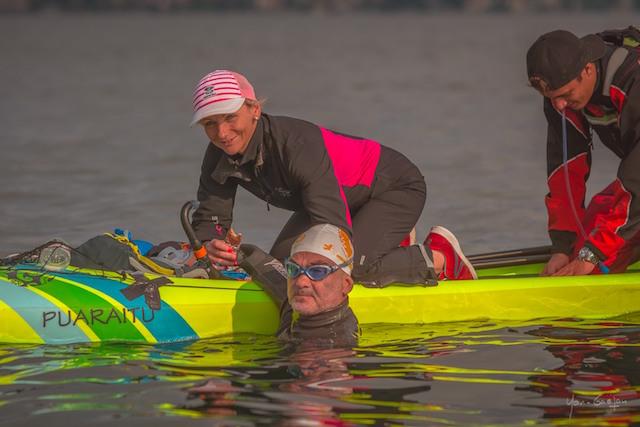 Vidéo-Traversée du lac Leman : le pari réussi de Thierry Corbalan