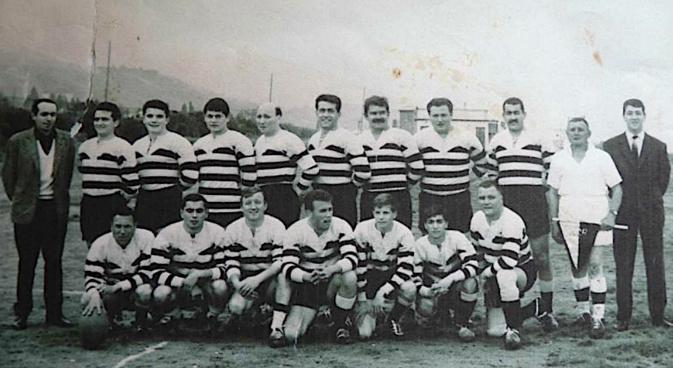 Une des toutes premières formations du Rugby club bastiais (Archives CNI)