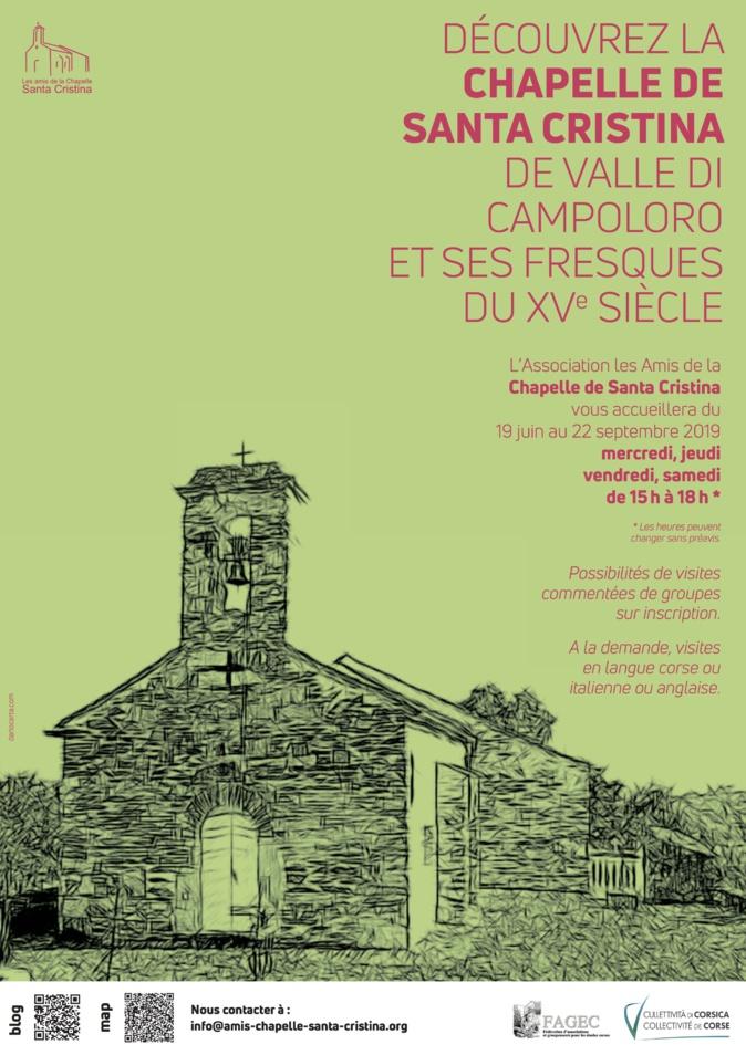 Découvrez la Chapelle de Santa Cristina de Valle di Campoloro et ses fresques