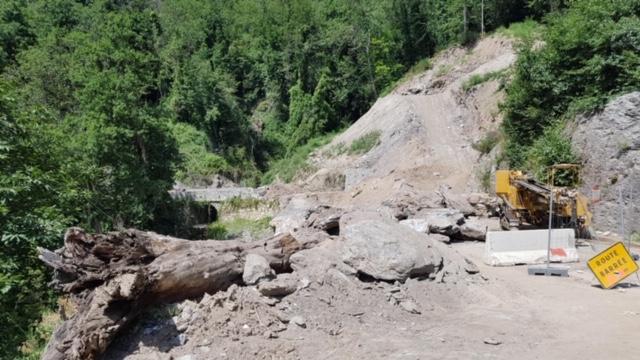 La route du pont de Rebbia, à la sortie de Felce, toujours coupée : colère des habitants