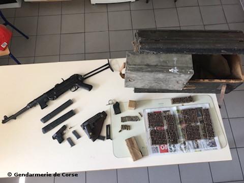 Cervioni : abandon d'armes