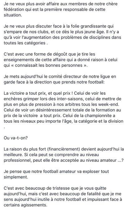 Jean-Pascal Taddei (USCC) démissionne du comité directeur de la Ligue Corse de Football
