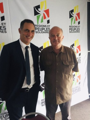 Gilles Simeoni et Daniel Cueff.