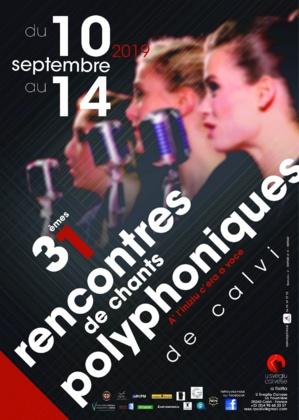 Les XXXIèmes Rencontres Internationales de Chants Polyphoniques à Calvi, du 10 au 14 septembre