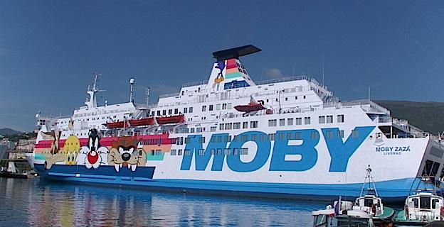 La baisse globale des trafics affecte l'ensemble des compagnies à l'exception de la Moby Lines et de la Blu Navy.