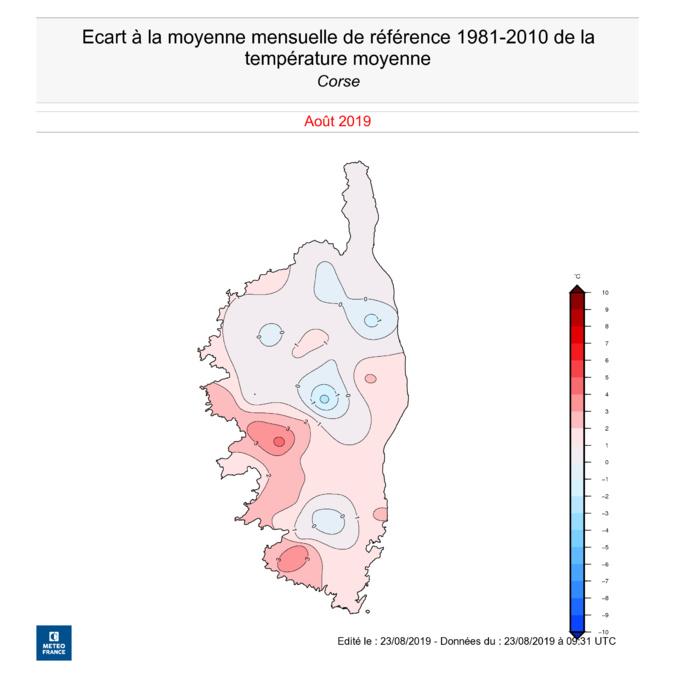 Un mois d'août plus chaud que la normale, mais pas de sécheresse en vue.