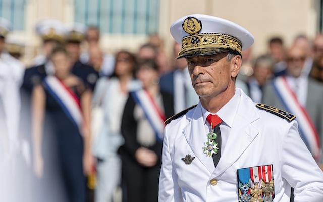 L'amiral Laurent Isnard, nouveau préfet maritime de la Méditerranée