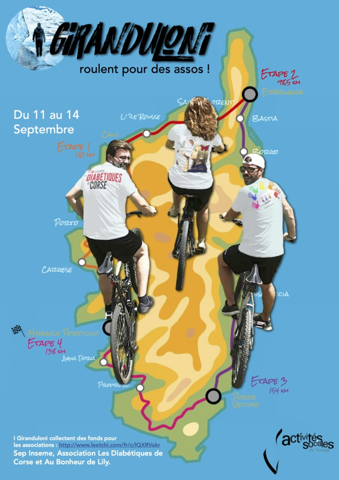 I Giranduloni : Un tour de Corse à vélo pour la bonne cause