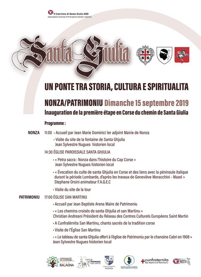 Nonza - Patrimoniu : Inauguration de la première étape du chemin de Santa Giulia