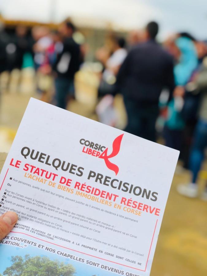 Linguizzetta : Corsica Libera mobilisée contre le projet immobilier « Marina di Bravone »