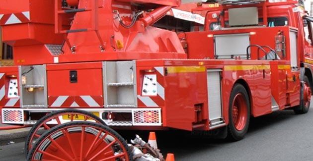 Un camion benne en feu à Lucciana