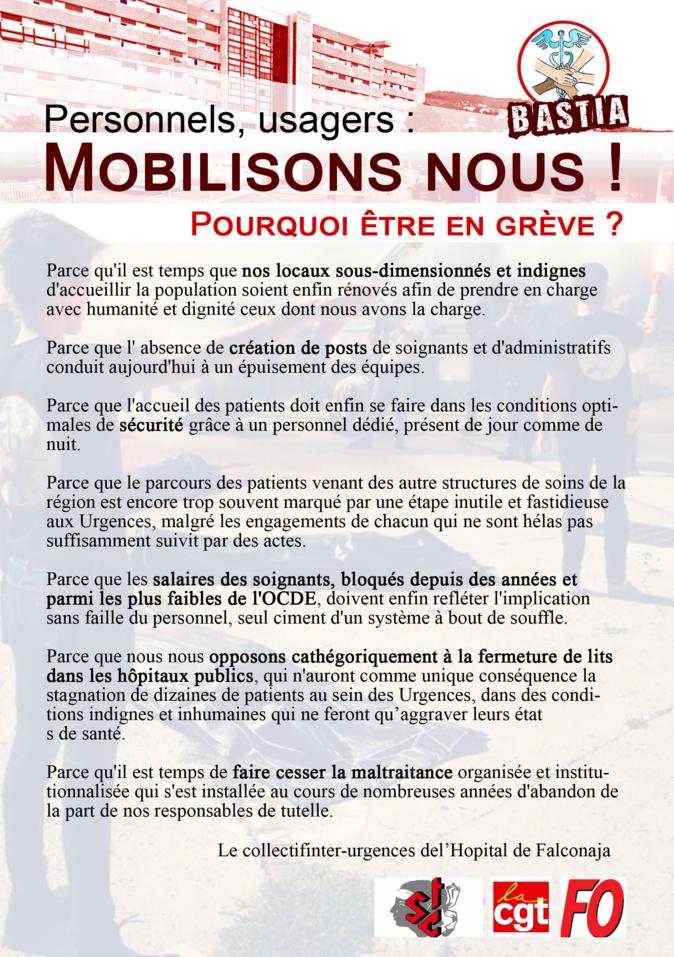 Grève des urgences à Bastia : un appels à manifester ce 26 septembre