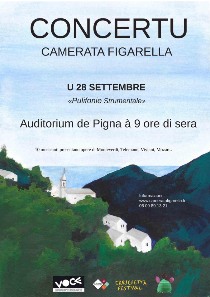 """Polifonie Strumentali"" par la Camerata Figarella, le 28 septembre à Pigna"