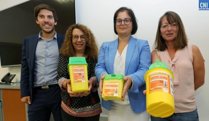 Les responsables de l'éco-organisme DASTRI et l'assciation des diabétiques de Corse mobilisés pour l'augmentation de la collecte des DASRI - Copyright : Michel Luccioni