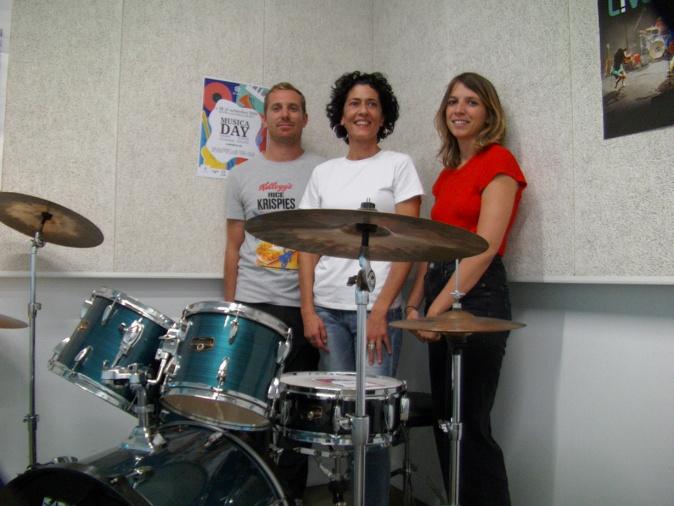 Fabrice Rougier, Lydie Boissier et Eloïse Casanova, organisateurs de la 1ère édition de Musica Day