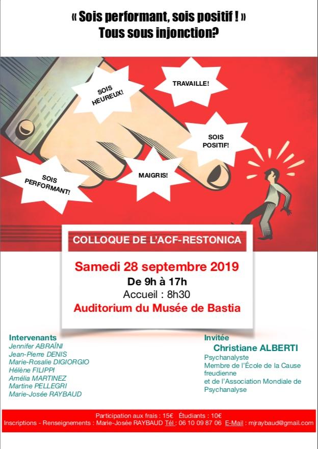 Les injonctions, sujet d'un colloque au musée de Bastia.