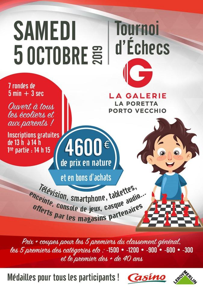 Porto Vecchio : Grand tournoi d'échecs au centre commercial La Galerie - Géant  5 octobre 2019