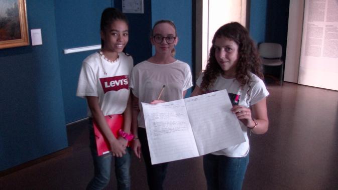Des élèves de CM2 et de 5ème bilingue ont découvert le musée via le document de Canopé
