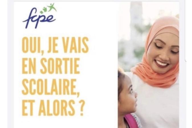 Affiche avec une maman voilée en sortie scolaire  : La LDH contre la polémique de la FCPE de Corse du Sud