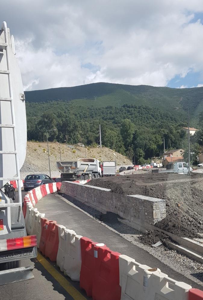 Les travaux de la traversée de Funtanone-di-Vignale se poursuivent