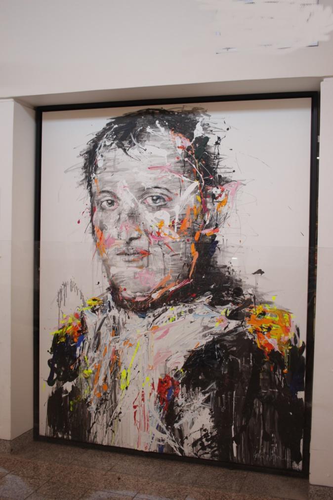 Portrait de Napoléon réalisé par l'artiste peintre Hom N'Guyen