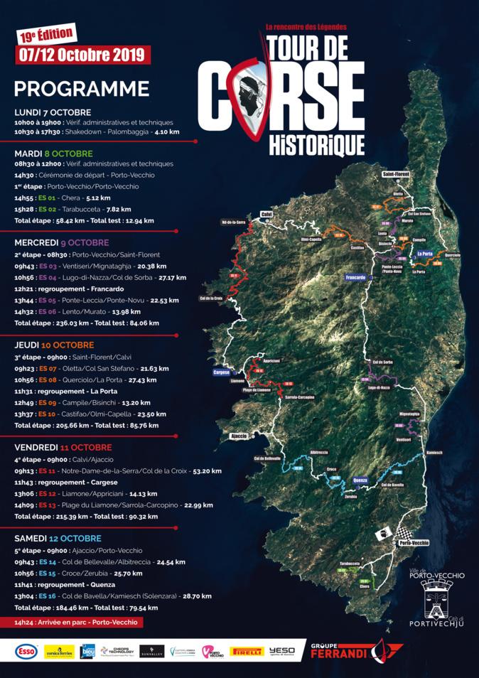 Le Tour de Corse historique sera en Balagne les jeudi 10 et vendredi 11 octobre
