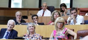 Le groupe Per L'Avvene à l'Assemblée de Corse. Photo Michel Luccioni.
