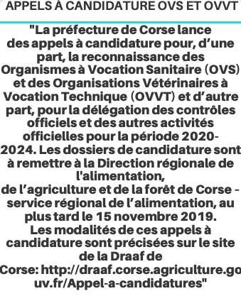 Préfecture de Corse : appels à candidature
