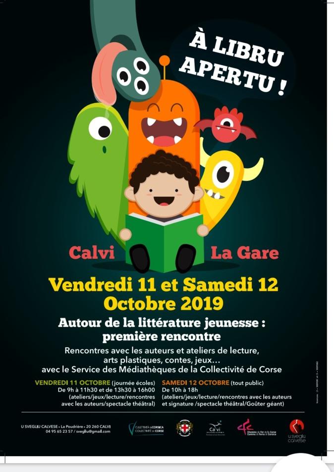 À libru apertu, première rencontre autour de la littérature jeunesse les 11 et 12 octobre à Calvi