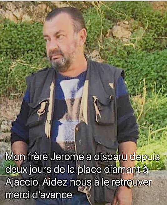 Ajaccio : qui a vu Jérôme Casanova ?