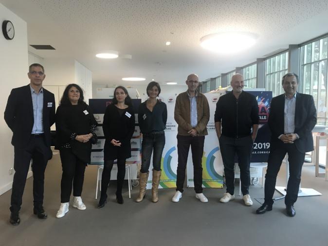 Les élus et organisateurs de Bastia Ville Digitale qui se tient à l'Alb'oru du 14 au 19 octobre.