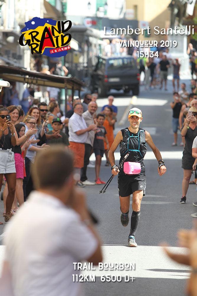 Lambert Santelli remporte le trail de Bourbon, île de la Réunion