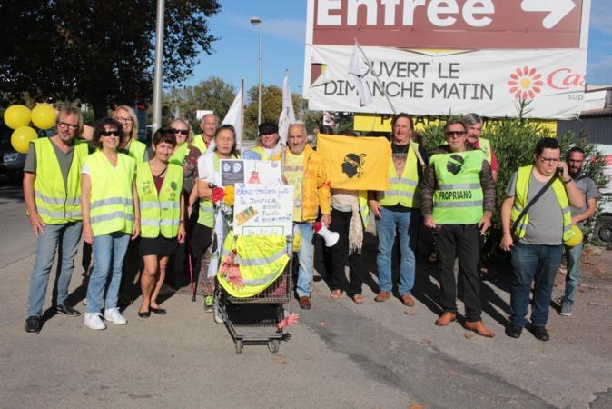 Les Gilets Jaunes de Martin Grisoni toujours présents à Calvi