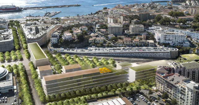 Le projet de la gare (photo non contractuelle)
