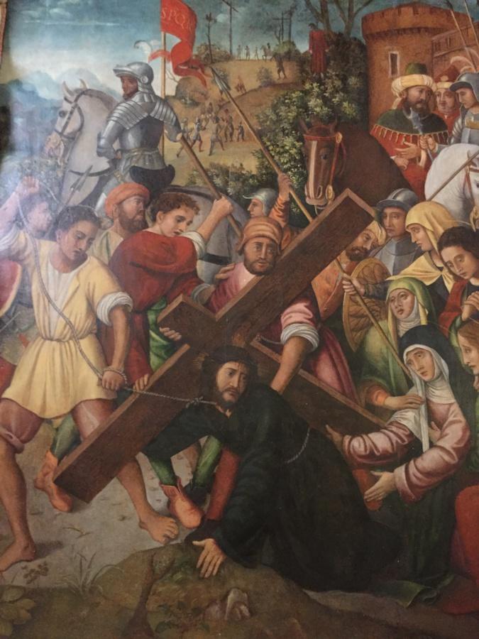 Le « Portement de Croix » d'un artiste pour l'heure non identifié