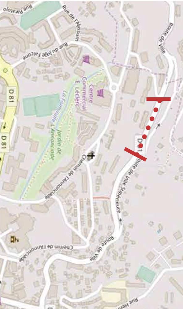 Bastia : Une portion de la route de Ville toujours fermée avant les travaux
