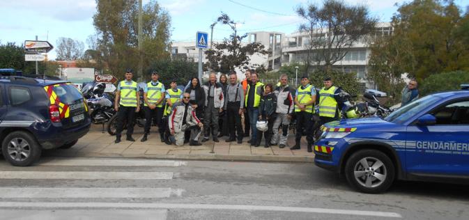 "Gendarmes et motards de ""Macadam Azur"""