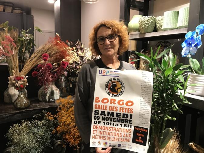 Louise Nicolai, fleuriste et présidente de l'U2P Haute-Corse