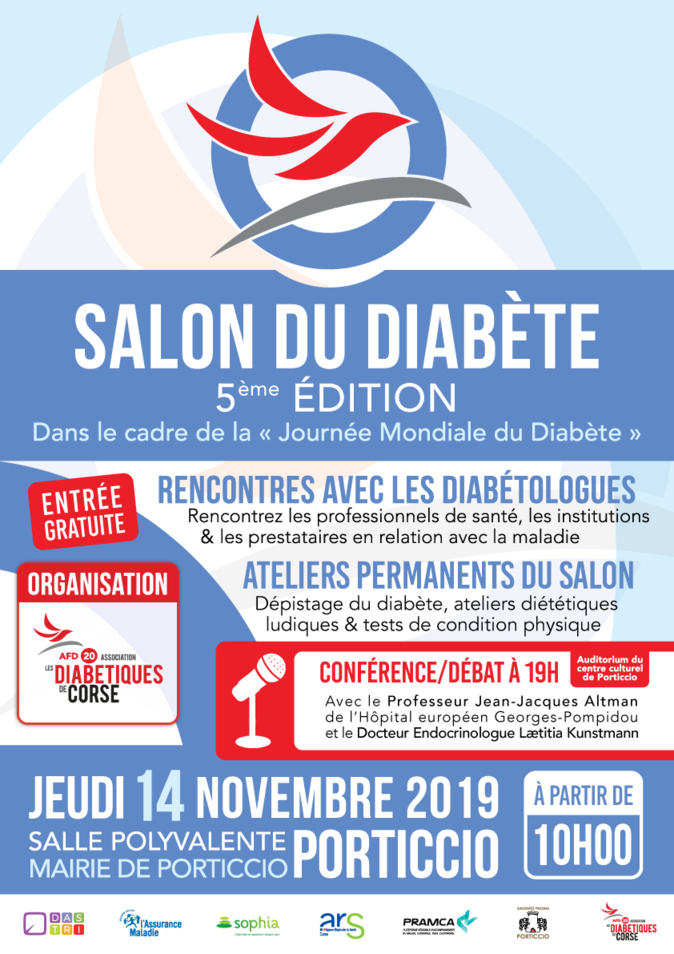 Salon du diabète :  Une journée de rencontres le 14 novembre à Ajaccio