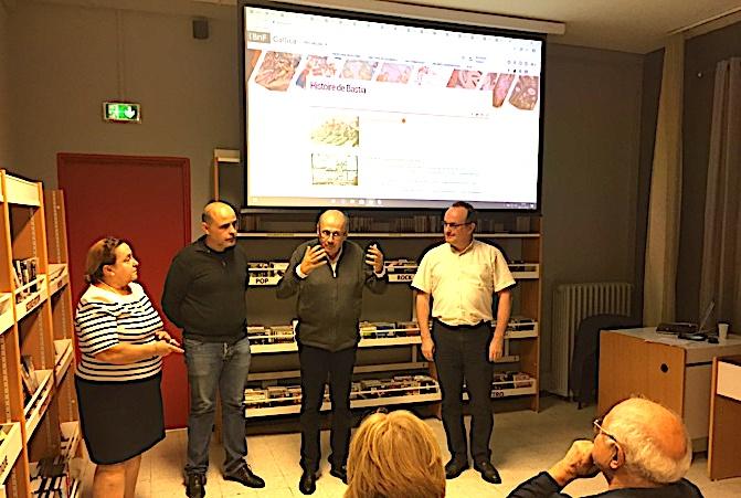 Philippe Peretti, adjoint délégué au patrimoine, entouré de Linda Piazza et Arnaud Dhermy