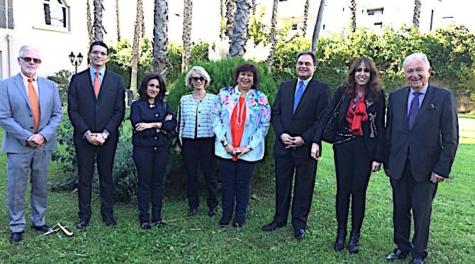 La délégation égyptienne à Bastia