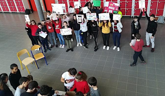 """Le """"non"""" au harcèlement du collège de Biguglia"""