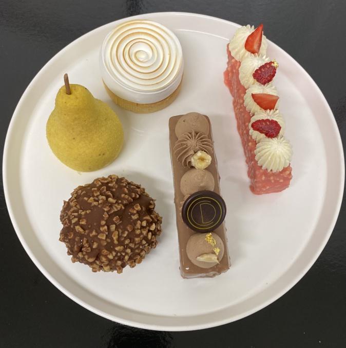 Les desserts création de Pierre-Olivier Gianotti.