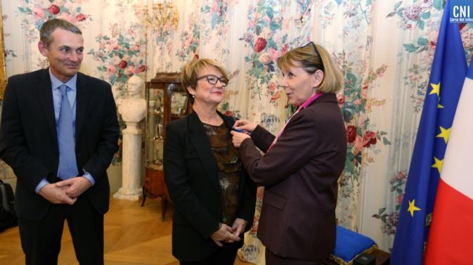 Ajaccio : Marie-France Andreozzi chevalier de l'Ordre national du Mérite