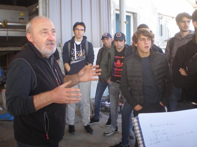 Les élèves du lycée maritime et aquacole de Bastia en immersion...à l'étang de Diana