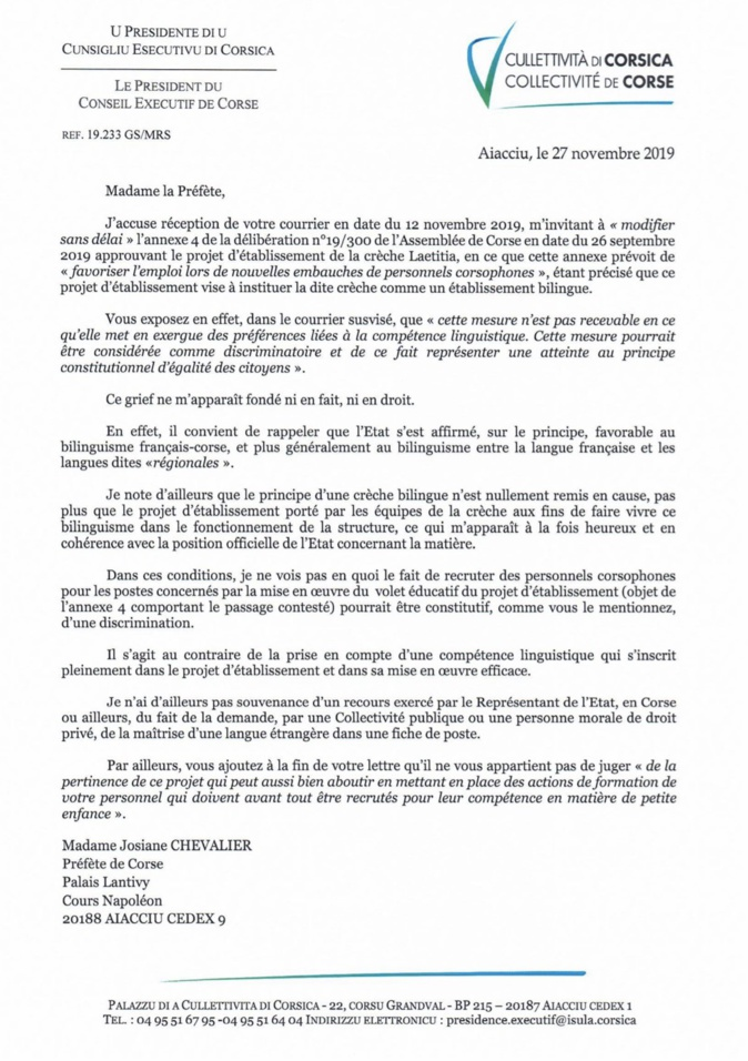 """Quand la langue corse devient un critère de sélection """"discriminatoire"""" : la polémique entre Gilles Simeoni et la préfète de Corse"""