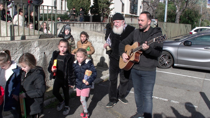 Sant'Andria in Bastia : la belle collecte des enfants