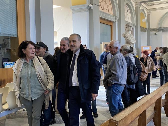 Jean-Guy Talamoni était venu soutenir Joseph Colombani au tribunal de Bastia