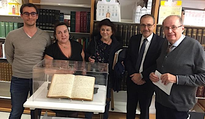 Eric Micheli, doctorant en histoire, Linda Piazza, Germaine De Zerbi, Jean-Guy Talamoni et Philippe Peretti ont présenté ce document inédit